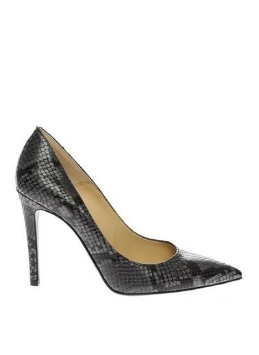 Bianca Di Bianca Di Yılan Baskı Kadın Topuklu Ayakkabı Gri